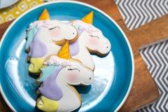 Печенья единорога Стоковое Фото