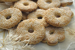 печенья засахаривают покрыно стоковое фото rf