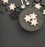 Печенья звезды рождества Стоковое фото RF