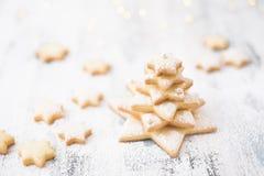 Печенья звезды сахара рождества стоковые фотографии rf
