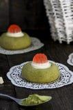 Печенья зеленого чая с белым шоколадом Стоковая Фотография RF
