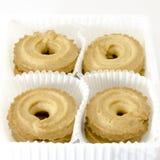Печенья изолированные на белизне Стоковое Изображение RF