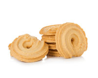 Печенья изолированные на белой предпосылке Стоковые Фото