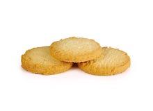 Печенья изолированные на белой предпосылке Стоковые Изображения RF