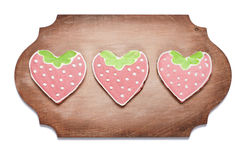 Печенья имбиря в форме сердца Стоковое Изображение