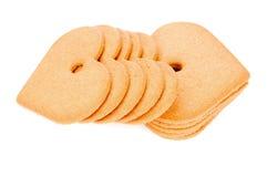 Печенья имбиря в форме сердца Стоковое фото RF
