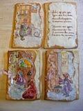 Печенья имбиря в форме специ-тортов карточки Стоковые Фотографии RF