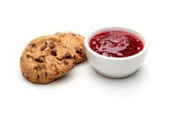 Печенья и варенье Стоковые Изображения RF