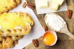 Печенья и ингридиенты Стоковое Фото