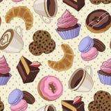 Печенья и картина кофе, свет - желтый цвет Стоковые Фотографии RF