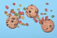 Печенья и конфеты обломока шоколада Стоковое фото RF