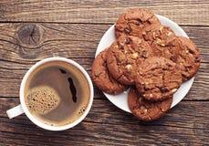 Печенья и кофе шоколада Стоковая Фотография RF