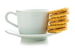 Печенья и кружка кольца варенья Стоковая Фотография RF