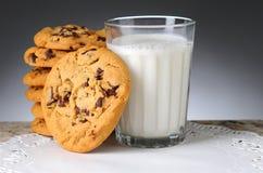 Печенья и молоко Стоковое Изображение
