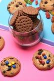 Печенья и помадки обломока шоколада Стоковая Фотография