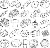 Печенья и хлебы Стоковые Изображения