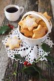Печенья и чашка кофе рождества Стоковое Изображение RF