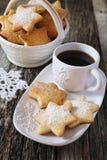 Печенья и чашка кофе рождества Стоковая Фотография RF