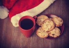 Печенья и чашка кофе Стоковое Изображение