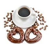 печенья и чашка кофе Стоковое Фото