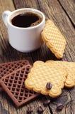 Печенья и чашка кофе Стоковое фото RF