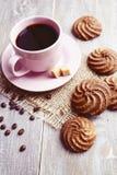 Печенья и чашка кофе Стоковые Фото