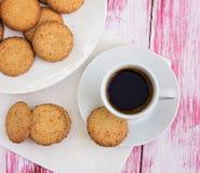 Печенья и чашка кофе Стоковая Фотография RF