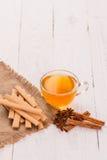 Печенья и чашка чаю с специями Стоковая Фотография RF
