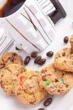 Печенья и шоколад с чаем Стоковые Изображения
