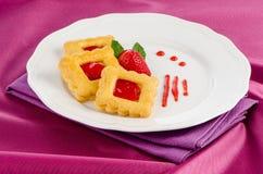Печенья клубники Стоковая Фотография RF