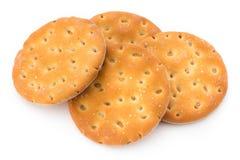 Печенья короткого печенья на белой предпосылке Стоковые Изображения RF