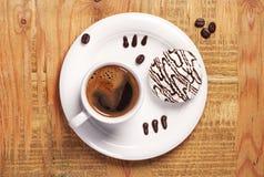 Печенья кофе и сливк Стоковые Изображения RF