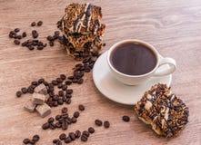 печенья кофе придают форму чашки вектор Стоковые Фото