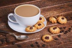 печенья кофе придают форму чашки вектор Стоковая Фотография RF