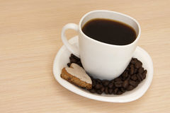 печенья кофе придают форму чашки вектор Стоковое Изображение