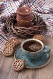 печенья кофе придают форму чашки вектор Стоковые Изображения