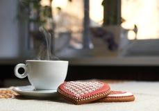 печенья кофе придают форму чашки вектор Стоковая Фотография