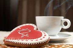 печенья кофе придают форму чашки вектор Стоковое фото RF