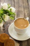 печенья кофе придают форму чашки вектор Стоковое Фото