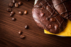печенья кофе шоколада фасолей Стоковая Фотография