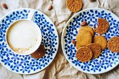Печенья кофе flatlay стоковое фото