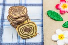 Печенья крена на ткани Стоковое Изображение RF