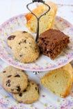 Печенья, кусок шоколада и ваниль испекут Стоковое Изображение RF