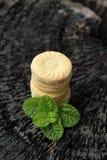 Печенья клубники очень вкусный на деревянной предпосылке Стоковая Фотография