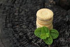 Печенья клубники очень вкусный на деревянной предпосылке Стоковые Фото