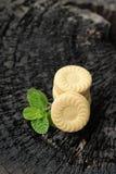 Печенья клубники очень вкусный на деревянной предпосылке Стоковое Фото