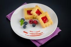 Печенья клубники Стоковое фото RF