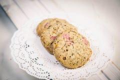 Печенья клубники Стоковое Фото