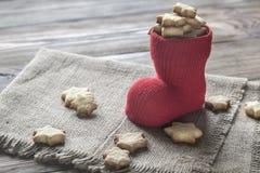 Печенья масла в чулке рождества Стоковые Фотографии RF