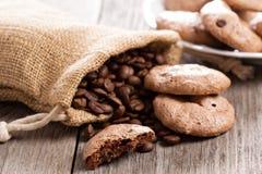 Печенья меренги эспрессо шоколада Стоковые Изображения